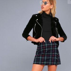 BB Dakota HOT Plaid Fringe Detail Skirt in size 6